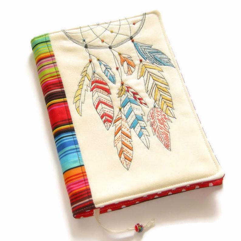 Dreamcatcher Fabric Book Cover Reusable Notebook Case image 0