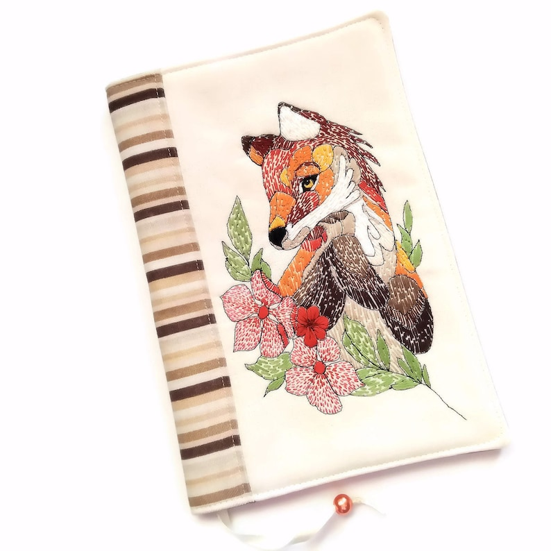 Foxy Book Cover Diary Journal Fabric Notebook Case Travel image 0