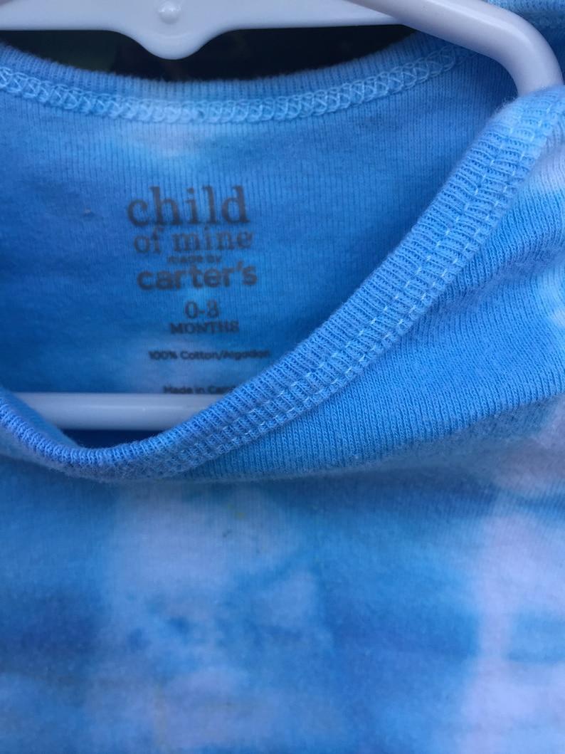 Blue Tie Dye Long Sleeve Onesie 0-3 Months