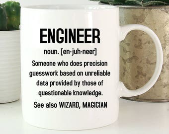 Engineer Mug, Engineer Definition, Engineer Gifts, Gifts For Engineer, Funny Engineer Coffee Mug, Engineering Gifts, Engineering Mug