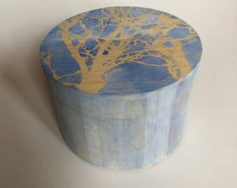 Winter Trees. Hand painted watercolor box.