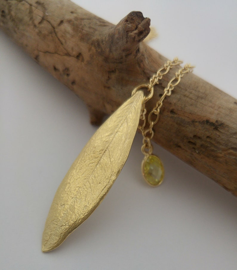 a2419036d Dainty gold olive leaf necklace Unique gifts for women Gold   Etsy