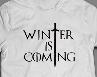 Winter is Coming Game of Thrones T-Shirt S-4XL and Long Sleeve Available