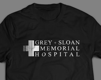 Grey Sloan Memorial Hospital Tshirt from Grey's Anatomy Tv Show S-4XL And Long Sleeve Available