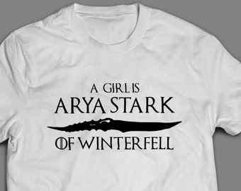 "Battle of Winterfell  ""A Girl Is Arya Stark of Winterfell""  Game of Thrones T-Shirt S-4XL"