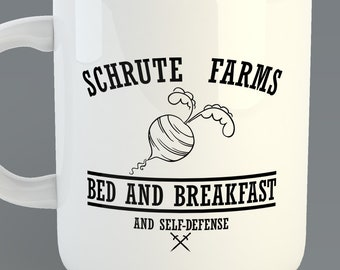 "The Office ""Schrute Farms Bed and Breakfast""  Custom Coffe Mug Inspired from the TV The Office  Dwight Schrute"