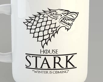 Game Of Thrones House Stark Custom 11oz Coffe Mug Jon Snow