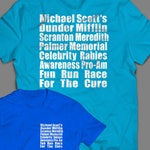 """The Office """"Meredith Rabies Awareness Fun Run"""" Shirt Inspired by the TV Show  Men's, Women's and Long Sleeve Available"""