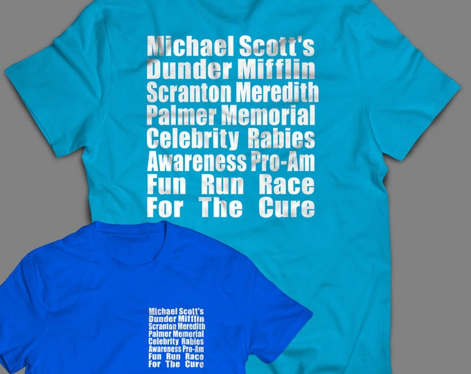 "Featured listing image: The Office ""Meredith Rabies Awareness Fun Run"" Shirt Inspired by the TV Show  Men's, Women's and Long Sleeve Available"