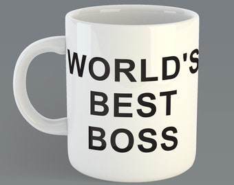 "The Office ""World's Best Boss""  Custom Coffe Mug Inspired from the TV The Office Michael Scott"