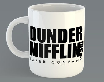 "The Office ""Dunder Mifflin Inc""  Custom Coffe Mug Inspired from the TV The Office"