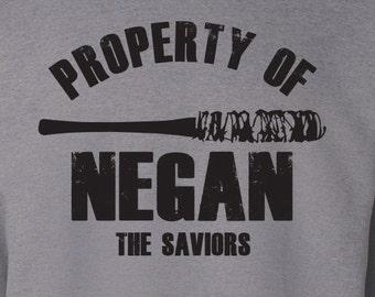 "The Walking Dead ""Property Of Negan"" Negan Lucille Sweater S-3XL Available TWD Sweatshirt"