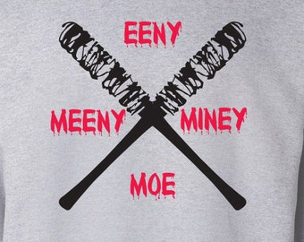 "The Walking Dead ""Eeny Meeny Miney Moe"" Negan Lucille Sweater S-3XL Available TWD Sweatshirt"