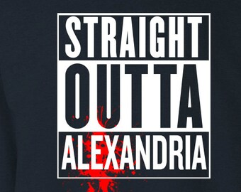 "The Walking Dead ""Straight Outta Alexandria"" Sweater S-3XL Available TWD"