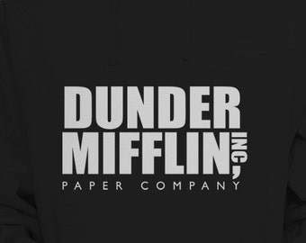 """The Office TV Show """"Dunder Mifflin Inc"""" Hoodie Sweater S-XL Available Pullover Hooded Sweatshirt"""