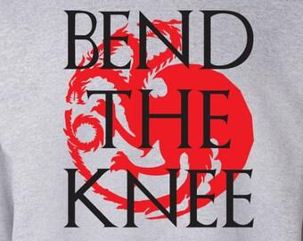 "Game Of Thrones ""Bend The Knee"" Sweater S-XXL Available Khaleesi Targaryen"