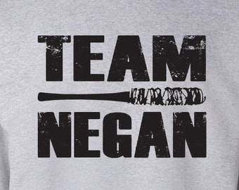 "The Walking Dead ""TEAM NEGAN"" Negan Lucille Sweater S-3XL Sweatshirt"
