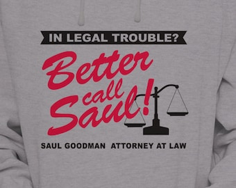 Better Call Saul S-XL Hoodie Available Saul Goodman Attorney At Law Hooded Pullover Sweater