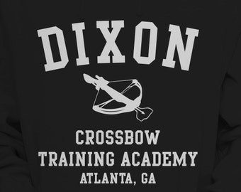 """The Walking Dead """"Dixon Crossbow Training Academy"""" Hoodie Sweater S-XL Available TWD Hooded Sweatshirt"""