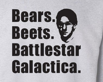 "The Office TV Show ""Bears Beets Battlestar Galactica"" Sweater S-4XL Available"