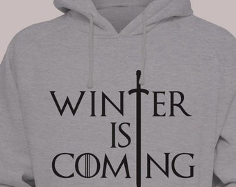 Winter is Coming Game of Thrones Hoodie Sweater S-XL Hooded Pullover