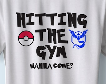 "Pokemon Go T-Shirt ""Hitting The Gym"" Small-4XL available"