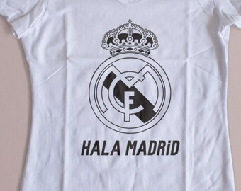Real Madrid Hala Madrid  Womens T-Shirts S-XL  Available Customization Available 2016