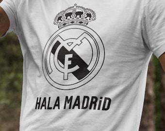 Real Madrid Hala Madrid T-Shirts S-4XL Anbd Long Sleeve Available Customizable LA LIGA