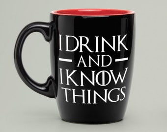 "Game of Thrones Decals I Drink & I Know Things  4""-9"""