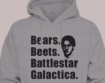 "The Office TV Show ""Bears Beets Battlestar Galactica"" Hooded Sweater Hoodie Sweatshirt"