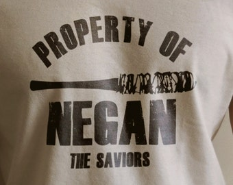 "The Walking Dead ""Property Of Negan"" Negan Lucille Shirt S-4XL  And Long Sleeve Available TWD"