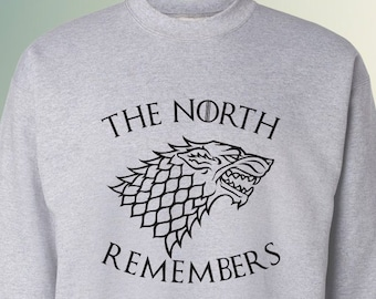 "House Stark ""The North Remembers"" Game of Thrones Sweater Jon Snow Sansa"