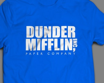 "The Office ""Dunder Mifflin Inc"" Shirt Crewneck and Long Sleeve Available Inspired by the TV Show"