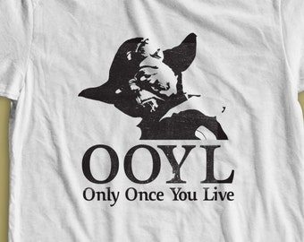"""Star Wars Yoda """"Only Once You Live""""  Shirt S-4XL and Long Sleeve Available"""