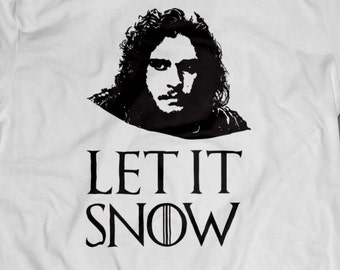 Game of Thrones Let It Snow Jon Snow T-Shirt S-4XL And Long Sleeve Available