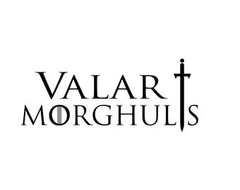 "Game of Thrones Valar Morghulis Decals 4""-10"""