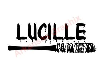 "The Walking Dead ""Lucille"" Decal 4""-9"" TWD"