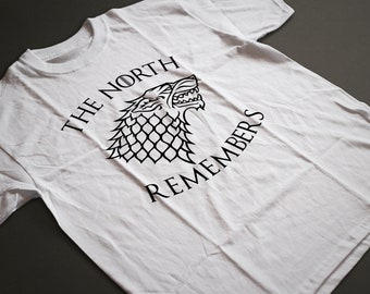 Game of Thrones The North Remembers T-Shirt S-4XL and Long Sleeve Available