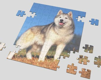 "Custom 48 or 80piece Photo Puzzle , Print Logo , Picture or Any Design 8""X10"" Customized jigsaw puzzle Personalized puzzle"