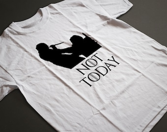 "Battle of Winterfell  ""Not Today""  Game of Thrones T-Shirt S-4XL Arya Stark"