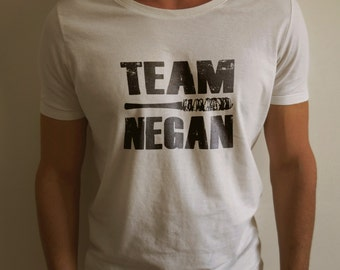 "The Walking Dead ""TEAM NEGAN"" Negan Lucille Shirt S-4XL nd Long Sleeve Available"