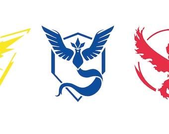 Pokemon Go Teams Vector/Cuttable Files Eps, AI, Pdf and Svg