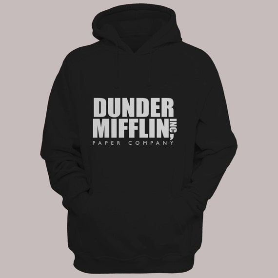 "The Office TV Show ""Dunder Mifflin Inc"" Hoodie Sweater S-XL Available Pullover Hooded Sweatshirt"