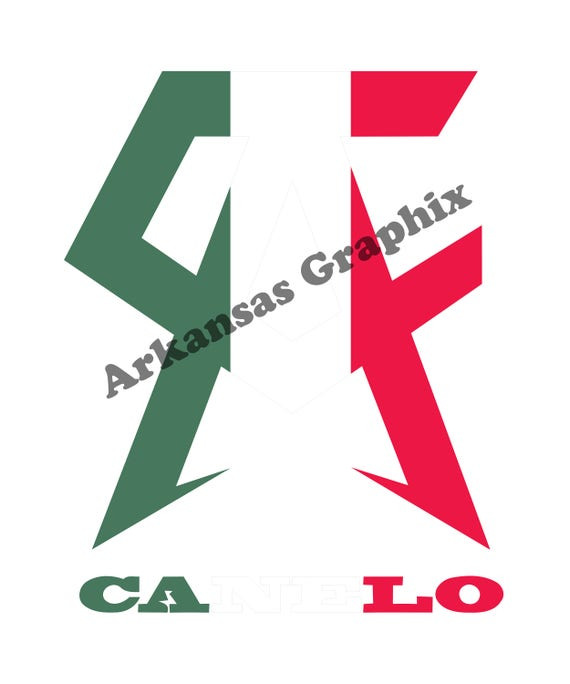 Canelo Logo With Mexican Flag Colors Vector/Cuttable Files Eps, AI, Pdf and Svg