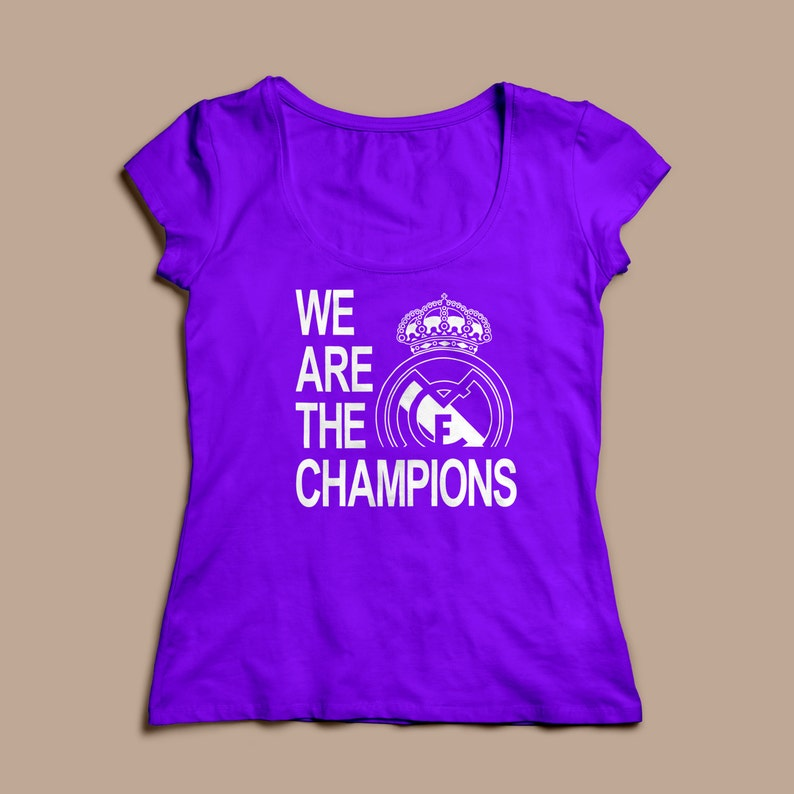 a1d56640f Real Madrid We Are The Champions Womens T-Shirts S-XL | Etsy