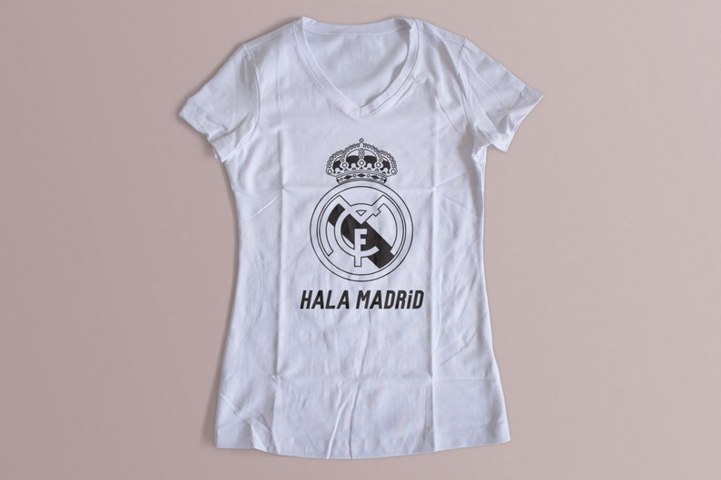 low priced 804b3 61b40 Real Madrid Hala Madrid Womens T-Shirts S-XL Available Customization  Available 2016