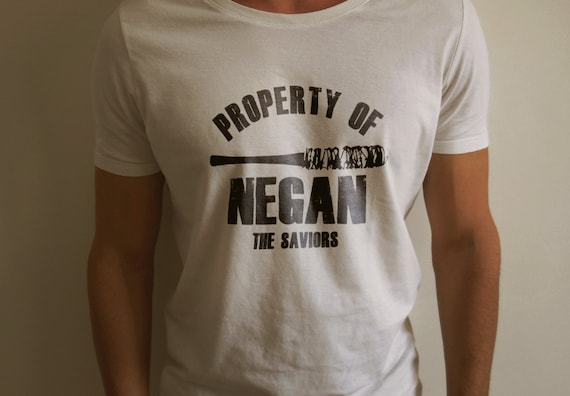 """The Walking Dead """"Property Of Negan"""" Negan Lucille Shirt S-4XL  And Long Sleeve Available TWD"""