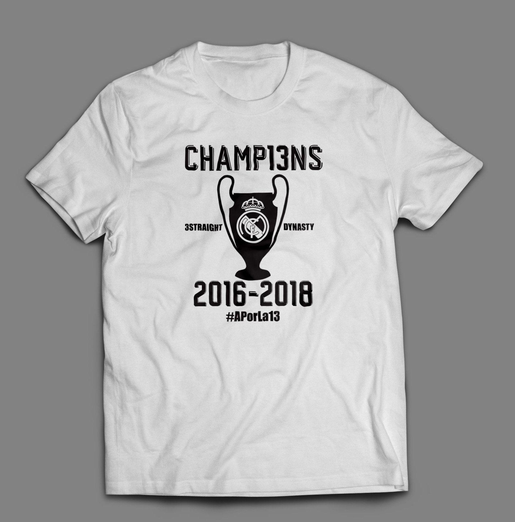 3d22efb2f Real Madrid Champions League 2016-2018 Shirt #APorLa13 S-4XL ...