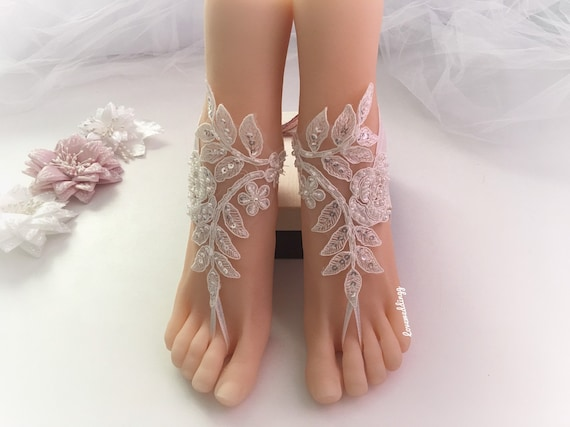Barefoot Gold Lace White Beach Sandals For SandalsBohemian Ivory BrideSexy Wedding ym8nwO0vN