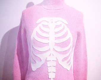 Second Life - Ribcage Pink Sweater